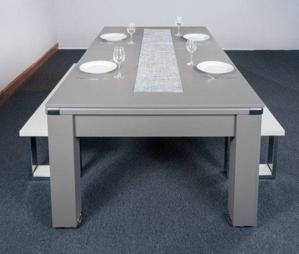 30427-1-Signature Warwick Pool Dining Table – End – with Top and Bench