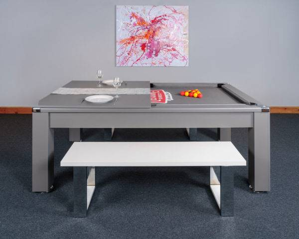 30431-1-Signature Warwick Pool Dining Table – Side – with Half Top and Bench