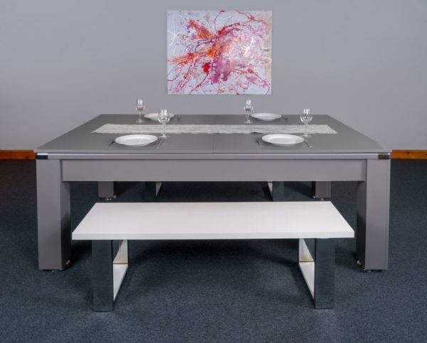 30432-1-Signature Warwick Pool Dining Table – Side – with Top and Bench