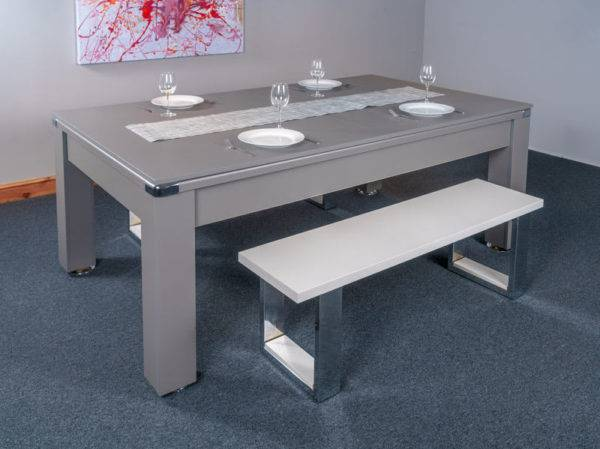 30436-1-Signature Warwick Pool Dining Table – with Top and Bench