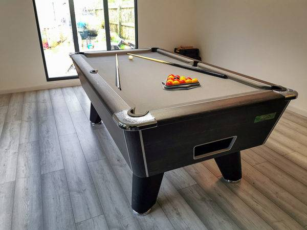 35987- Supreme Winner Pool Table finished with a grey Cloth