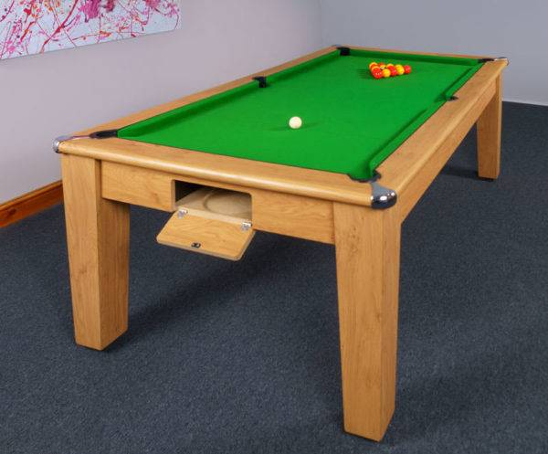 30382-1-Signature Imperial Pool Dining Table – Ball Return Open