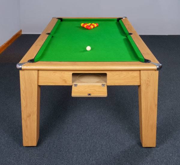 30384-1-Signature Imperial Pool Dining Table – End – Ball Return Open