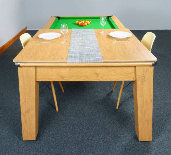 30385-1-Signature Imperial Pool Dining Table – End – with Half Top