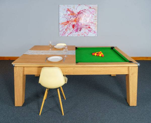 30390-1-Signature Imperial Pool Dining Table – Side – with Half Top