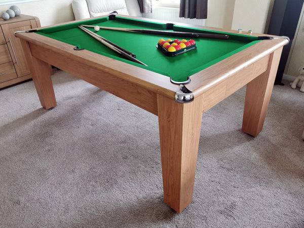 36073-Signature Imperial Pool Dining Table – Green Cloth